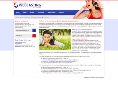 Website Stichting Webcasting Nederland