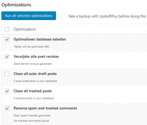 WordPress versnellen WP-Optimize