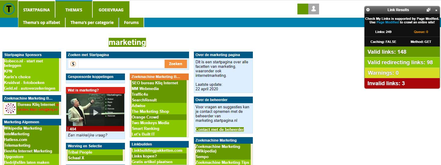 Chrome SEO tool Check My Links