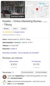 Google SEO tool Mijn Bedrijf