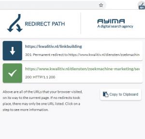 Redirect Path SEO tool Chrome