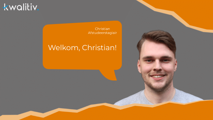 Welkom stagiair Christian